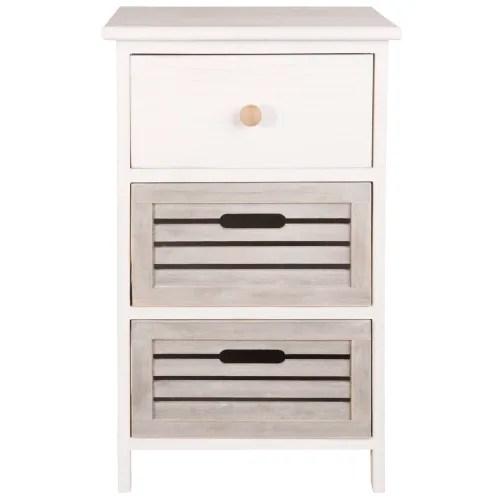 petit meuble de rangement 3 tiroirs en paulownia maisons du monde