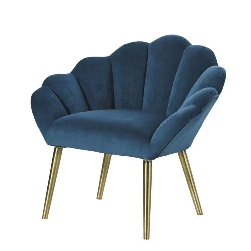 Dai modelli relax al divano letto, pratico e di tendenza, passando per le chauffeuse e i divani. Poltrona Vintage Blu Pavone Homarid Maisons Du Monde