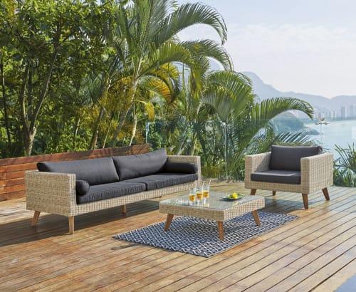 polypropylene outdoor rug in black white 120x180 maisons du monde