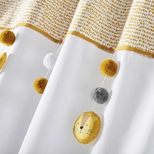 rideau a passants en coton bicolore a motifs a l unite 110x250 maisons du monde