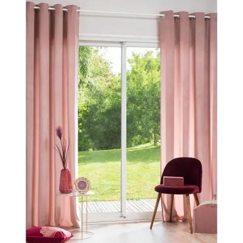 rosa osenvorhang 140x250 1 vorhang maisons du monde