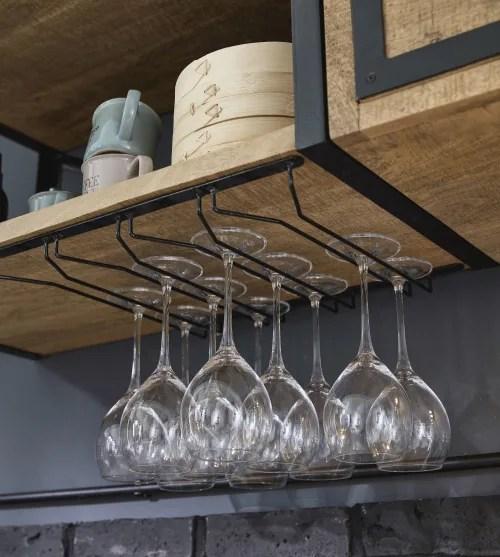 Cucina maison du monde 2021; Scaffale Da Parete Per Cucina In Metallo Grigio E Legno Massello Di Mango Melchior Maisons Du Monde
