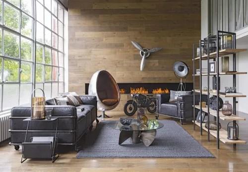Arredare la propria casa con stile. Scaffale Stile Industriale In Metallo Nero E Mango Stoke Maisons Du Monde