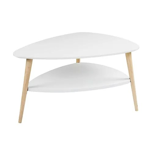 scandinavian white coffee table maisons du monde