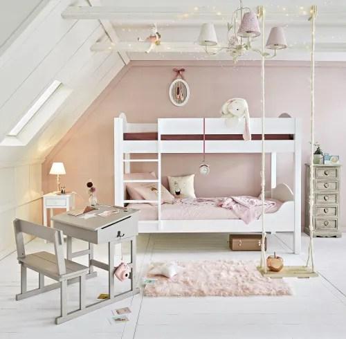 Crea la zona notte dei loro sogni con un letto,. Scrivania Talpa Per Bambini Con Stampa Di Stella Bianca Pupitre Maisons Du Monde