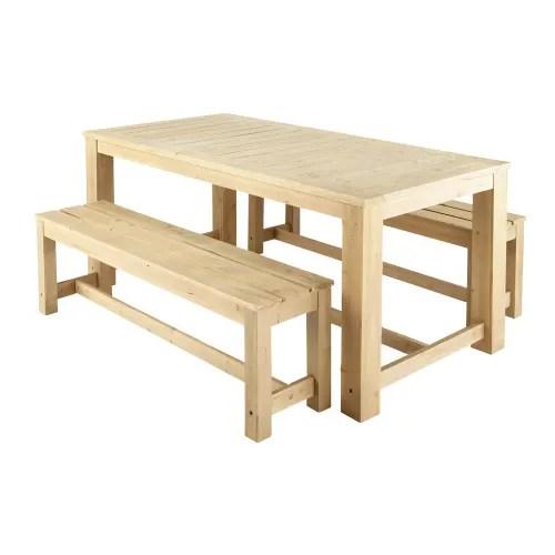 table 2 bancs de jardin en bois l 180 cm maisons du monde