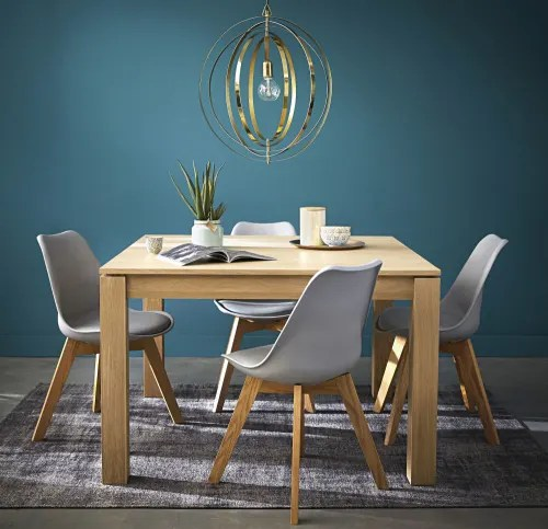 table a manger carree extensible 4 a 8 personnes en chene l120 180 maisons du monde
