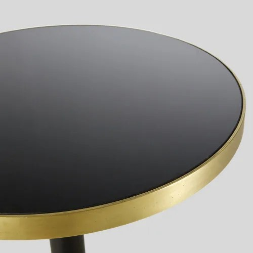 table a manger haute ronde en verre trempe noir 1 2 personnes d70 maisons du monde