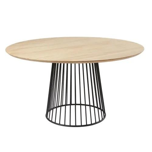 table a manger ronde 4 6 personnes en manguier d140 maisons du monde