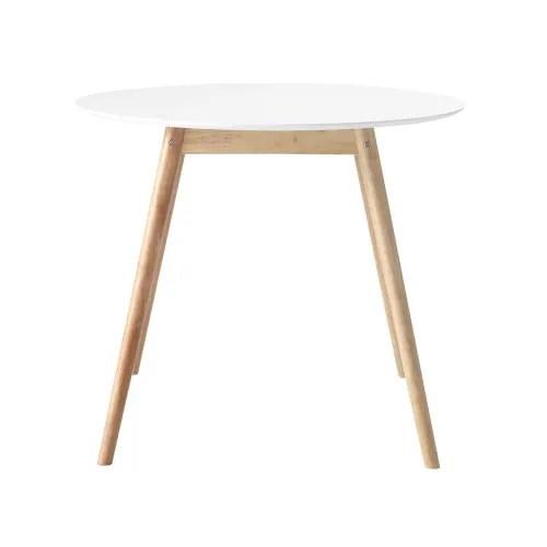 table a manger ronde blanche 4 personnes d90 maisons du monde