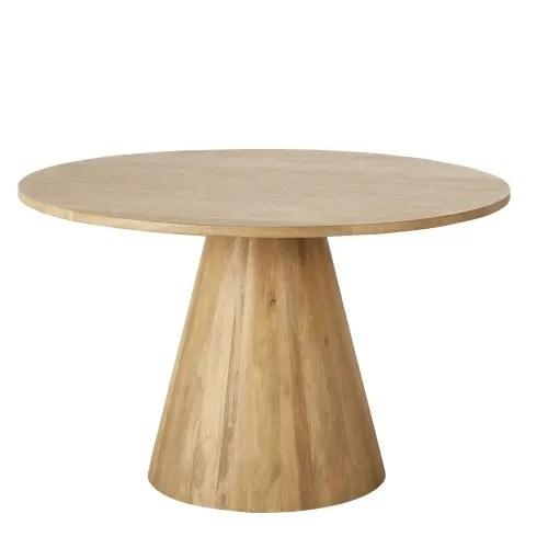 table a manger ronde en manguier massif blanchi 5 6 personnes d120 maisons du monde