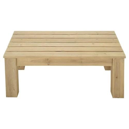 table basse de jardin en bois l 100 cm maisons du monde