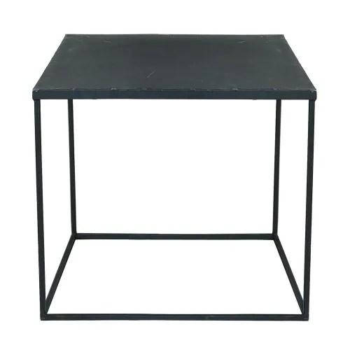 table basse indus en metal noir maisons du monde