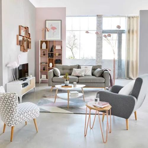 table basse style scandinave blanche maisons du monde