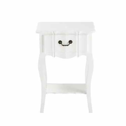 table de chevet avec tiroir en bois de paulownia blanche l 44 cm maisons du monde