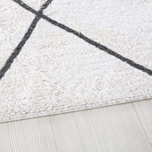 tapis berbere en coton ecru et noir 140x200 maisons du monde