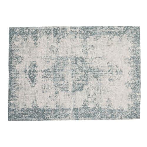tapis bleu 155 x 230 cm maisons du monde