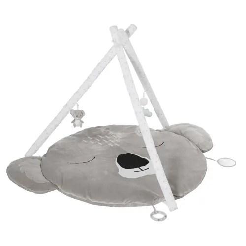 tapis d eveil bebe koala gris d90 maisons du monde