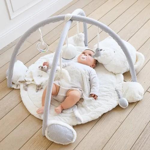 tapis d eveil bebe ourson en coton 70x90 maisons du monde