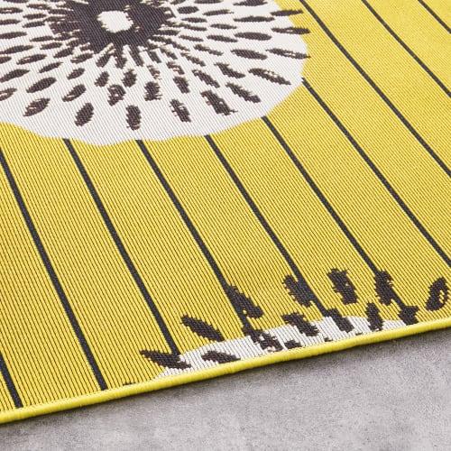 tapis d exterieur en polypropylene jaune a motifs 160x230 maisons du monde