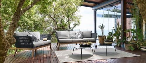tapis d exterieur gris tresse 200x200 maisons du monde