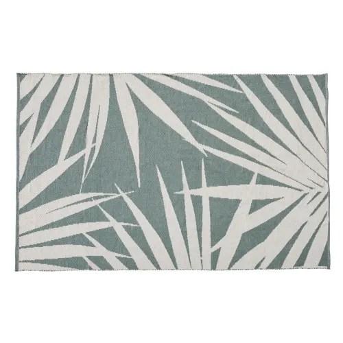 tapis d exterieur imprime feuillage vert et beige 120x180 maisons du monde