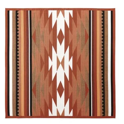 tapis d exterieur terracotta motifs graphiques 200x200 maisons du monde