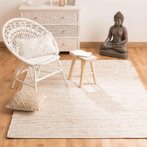 tapis en coton et jute 160x230 maisons du monde