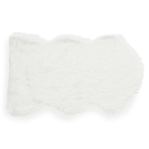 tapis en fausse fourrure blanc 60 x 100 cm maisons du monde