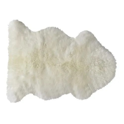 tapis en peau de mouton ivoire 55 x 90 cm maisons du monde