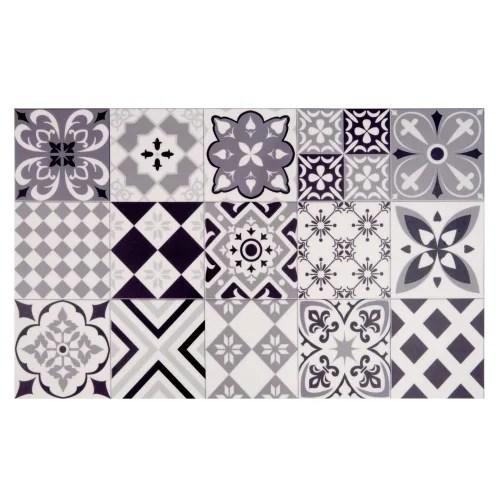 tapis en vinyle motifs carreaux de ciment 50x80 maisons du monde