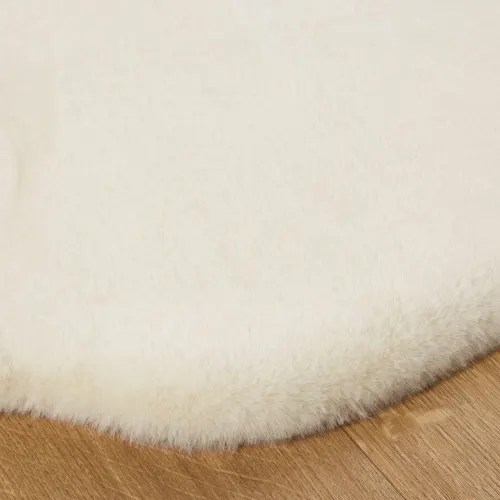 tapis imitation fourrure ecrue 60x90 maisons du monde