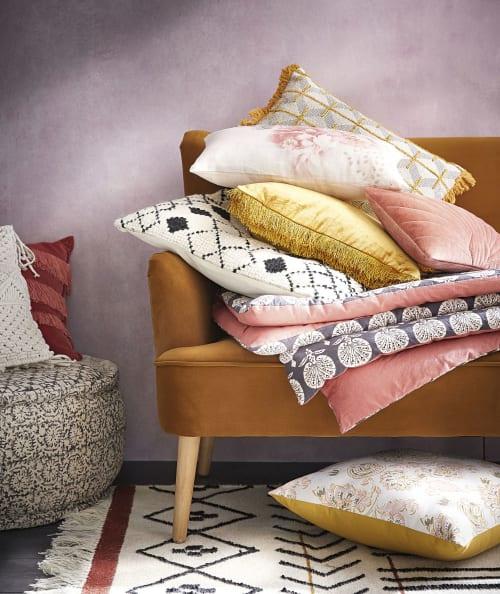 tapis kilim en laine multicolore a franges 140x200 maisons du monde