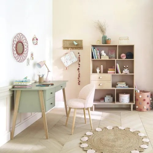 tapis rond en jute et coton rose et beige d100 maisons du monde
