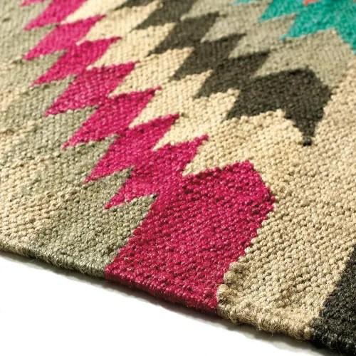 tapis tresse en laine multicolore 140 x 200 cm maisons du monde
