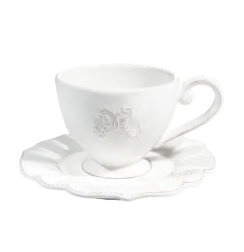 tasse et soucoupe a cafe en faience blanche maisons du monde