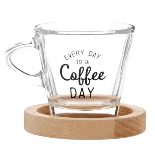 tasses a cafe en verre x6 et support en metal noir maisons du monde
