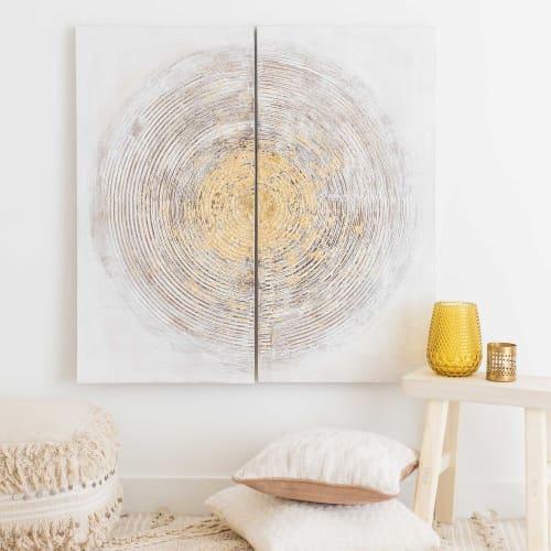 Anche queste rondini in metallo dorato suzanne (x3) sono ideali per ravvivare un appartamento, dal salotto alla camera da letto. Tela Dittico 90x90 Cm Abstract Maisons Du Monde