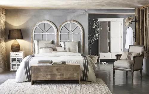 tete de lit 160 fenetres blanches maisons du monde