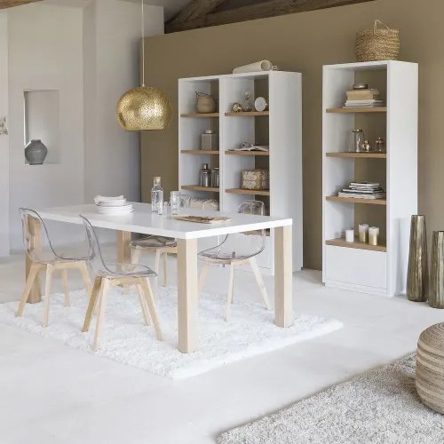 transparenter skandinavischer stuhl mit eiche maisons du monde