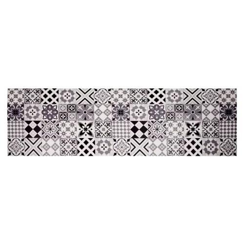 vinyl teppich mit zementfliesen motiven 60 x 199 maisons du monde