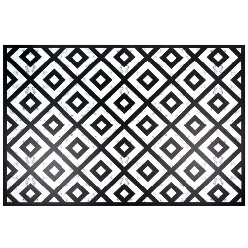 vinyl teppich schwarz und weiss gemustert 100x150 maisons du monde