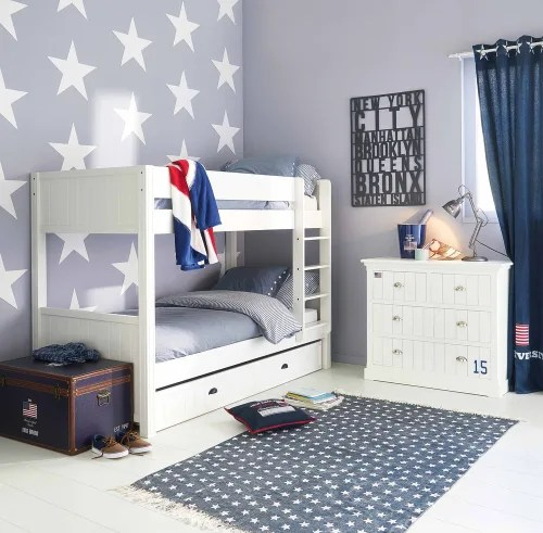 Ispirazione arriva da varie parti del mondo, stili differenti per personalizzare la propria casa. White Bed Drawer 90x190 Newport Maisons Du Monde