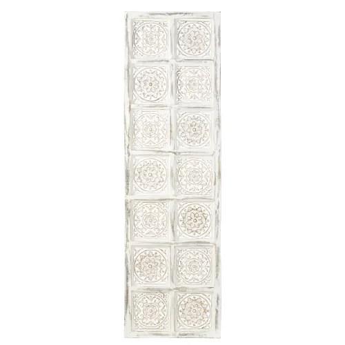 Visualizza altre idee su arredamento, camera shabby, camera da letto con baldacchino. White Carved Wall Art 51x172 Maho Maisons Du Monde