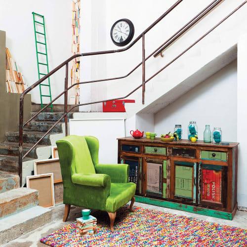 wollteppich 140 x 200 cm bunt maisons du monde