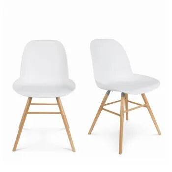 albert kuip 2 chaises resine et bois blanc maisons du monde
