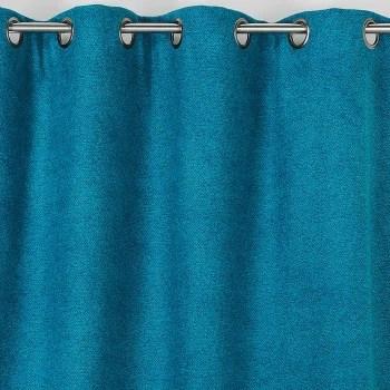 rideau obscurcissant aspect laine chinee polyester bleu 250x140 maisons du monde