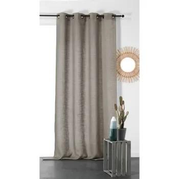 rideau tamisant et naturel en 100 lin lin gris perle 260x145 maisons du monde