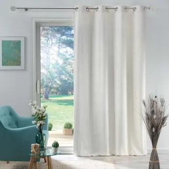 rideau en velours motif feuillage exotique polyester naturel 280x140 maisons du monde