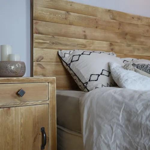 tete de lit 160 pin massif bois vieilli maisons du monde